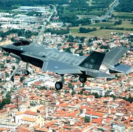 Lockheed Awarded $368M to Build F-35 CTOL, STOVL Jets for Italy