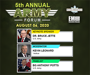 Potomac Officers Club's 5th Annual Army Forum Coming Aug. 27th; Featuring Panelist Mike Wells of Vectrus