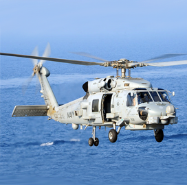 Lockheed Books $182M Navy Contract Modification for MH-60R Helicopter Sonars
