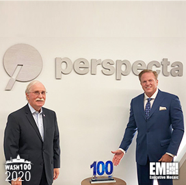 Barry Barlow, Perspecta SVP & Chief of Staff, Receives His First Wash100 Award From Executive Mosaic CEO Jim Garrettson