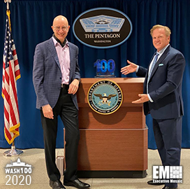 Michael Conlin, DoD's Chief Business Analytics Officer Receives First Wash100 Award From Executive Mosaic CEO Jim Garrettson