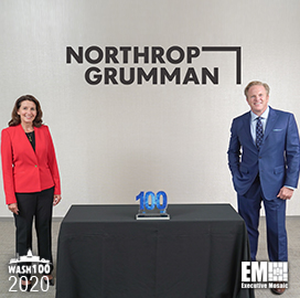 Kathy Warden, Chairman, CEO and President of Northrop Grumman, Receives Her Fifth Wash100 Award From Executive Mosaic CEO Jim Garrettson