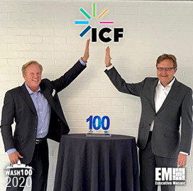 ICF CEO John Wasson Receives First Wash100 Award for Company Growth