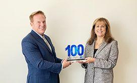 Jim Garrettson Presents SAIC CEO Nazzic Keene 2020 Wash100 Award