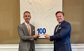 Jim Garrettson Presents Andrew Hallman His 2020 Wash100 Award