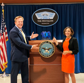 Katie Arrington, CISO for DoD's Acquisition Office, Receives First Wash100 Award for Leading CMMC Initiative