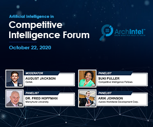 ArchIntel's AI in Competitive Intelligence Virtual Event to Discuss Maintaining Competitive Advantage