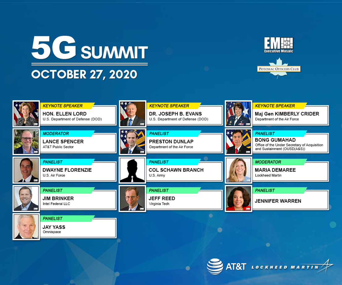 "Potomac Officers Club to Host ""5G Space: The Ultimate Connected High Ground"" Panel During 5G Summit"