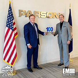 Parsons Chairman, CEO Chuck Harrington Receives First Wash100 Award for Company Growth, Expanding Defense Work