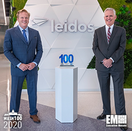 Leidos EVP, CFO Jim Reagan Receives Fifth Consecutive Wash100 Award