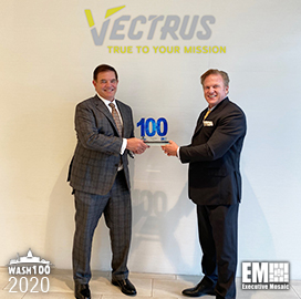 Vectrus President, CEO Chuck Prow Receives Sixth Wash100 Award for Company Growth