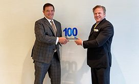 President, CEO of Vectrus Chuck Prow Receives Wash100 Award From Jim Garrettson, CEO of ArchIntel and Executive Mosaic