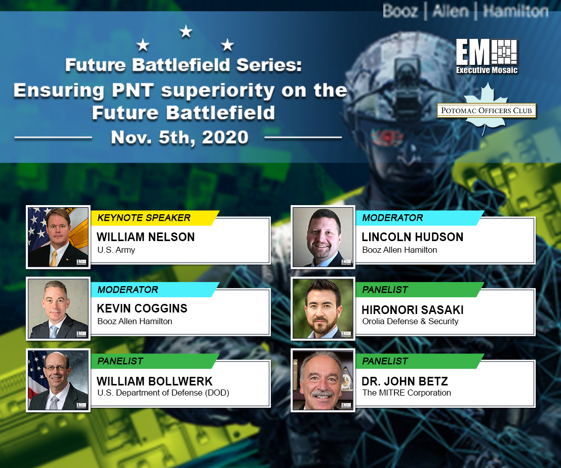 Potomac Officers Club to Hold 'Ensuring PNT Superiority on the Future Battlefield' Event TODAY at 8AM; Learn More About the Featured Speakers