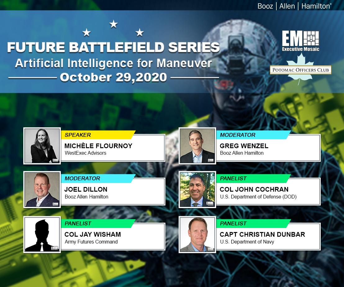 Col. Jay Wisham, Col. John Cochran, Capt. Christian Dunbar Serve as Panelists to Discuss Importance of AI Maneuvering to Improve Battlefield Capabilities