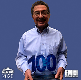 Maximus Federal President, GM Tom Romeo Receives Third Wash100 Award