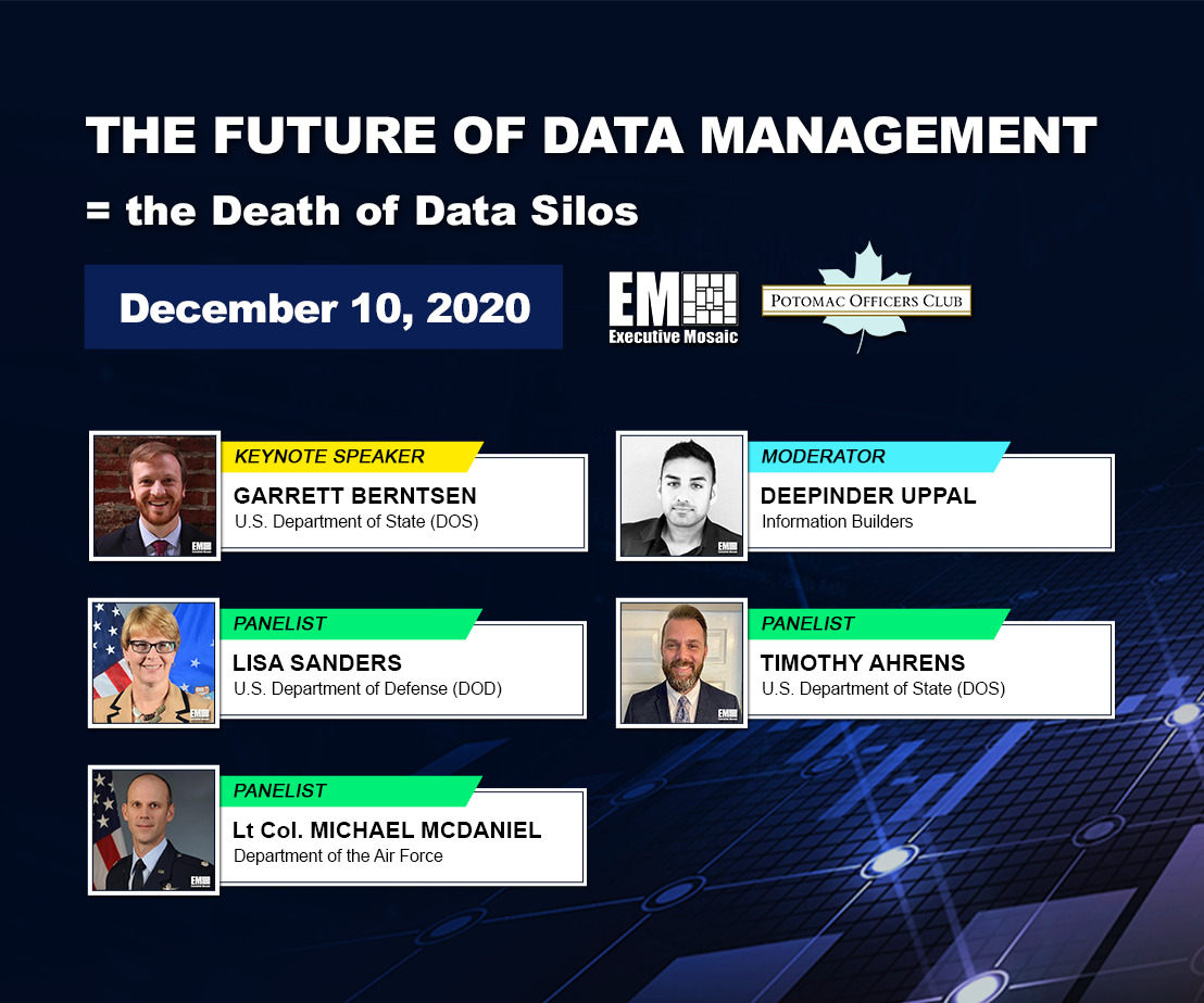 Potomac Officers Club to Host 'The Future of Data Management' Virtual Event TODAY at 10am; Learn More About the Featured Event Speakers