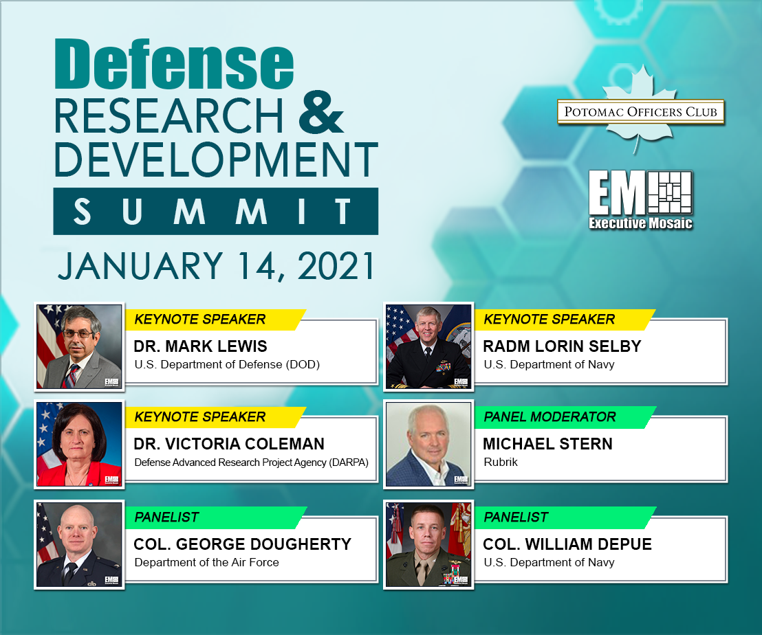 Potomac Officers Club to Host 7th Annual R&D Summit TODAY; Learn More About Event Speakers